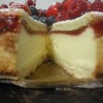 Käsekuchen Vanille-Bosvruchten-Aardbeien