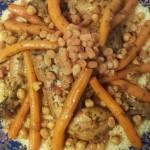 Couscous; Kippenbouten, Wortels, Kikkererwten en Rozijnen