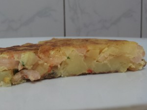 Tortilla garnalen 3