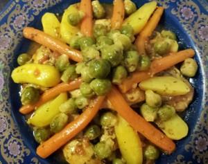 Mamita met kip, wortels, aardappelen en spruitjes 2