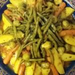 Marmita met Lamsvlees, Aardappelen, Wortels, Knolselderij, Spruiten en Sperziebonen