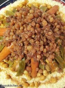 Couscous snijbonen gekonf ui-rozijn