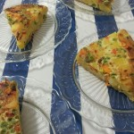Tortilla met Doperwten, Wortels, Paprika en Uien