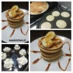 Pancakes met Banaan en Stroop