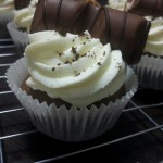 Cupcakes Chocolade Kinderbueno en Stroopwafel