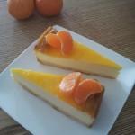 Käsekuchen-Cheesecake Orange-Tangerine