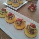 Mini Käsekuchen-Cheesecake-Kwarktaart 'Vanilla'