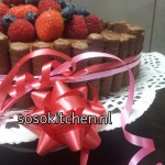 Chocoladetaart met vers Fruit vervolg