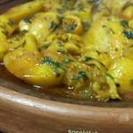 Tajine Aardappel-Kipstukjes-Citroen-Peterselie