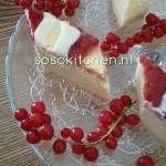 Käsekuchen-Cheesecake-Kwarktaart Mascarpone-Aardbeiensaus en Witte Chocolade