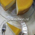 Käsekuchen-Cheesecake-Kwarktaart met Perzik en Passievrucht