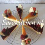 Cheesecake-Kwarktaart-Käsekuchen Home Made