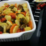 Ovenschotel Gehakt-Broccoli-Aardappel-Zoete Aardappel