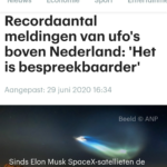 UFO's Boven Nederland!