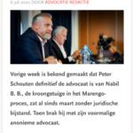 Peter Schouten Definitief Advocaat Van Kroongetuige Nabil B.