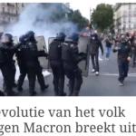Revolutie Van Het Volk Tegen Macron Breekt Uit!