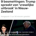 9 Besmettingen: Trump Spreekt van 'Vreselijke Uitbraak' In Nieuw-Zeeland