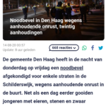 Noodbevel In Den Haag Wegens Aanhoudende Onrust