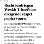 Rechtbank Tegen Weski: 'U Heeft Een Dreigende Stapel Papier Voor U'