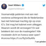 Conclusie Tweet Wilders