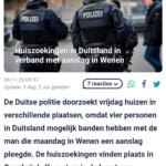 Huiszoekingen In Duitsland In Verband Met Aanslag In Wenen