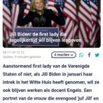 Jill Biden: De First Lady Die Tegelijkertijd Wil Blijven Lesgeven