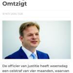 Celstraf Geëist Voor Bedreiger Kamerlid Omtzigt