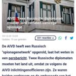AIVD: Twee Russische Diplomaten Moeten Land Verlaten Vanwege Spionage
