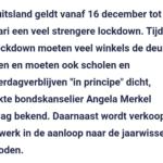 Strenge Duitse Lockdown: Scholen Dicht En Vuurwerkverkoop Verboden