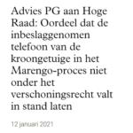 Marengo-Proces: Advies PG Aan Hoge Raad: Telefoon Kroongetuige Nabil B.