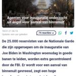 Agenten Voor Inauguratie Onderzocht Uit Angst Voor 'Aanval Van Binnenuit'