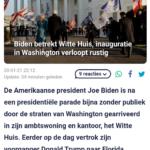 Biden Betrekt Witte Huis, Inauguratie In Washington Verloopt Rustig