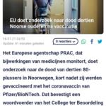 EU Doet Onderzoek Naar Dood Dertien Noorse Ouderen Na Vaccinatie