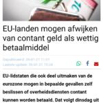 EU-landen Mogen Afwijken Van Contant Geld Als Wettig Betaalmiddel