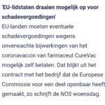 'EU-Lidstaten Draaien Mogelijk Op Voor Schadevergoedingen'