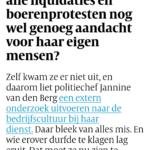 Interview: Jannine Van Den Berg. Had De Politie Door Alle Liquidaties En Boerenprotesten Nog Wel Genoeg Aandacht Voor Haar Eigen Mensen?