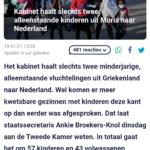 Kabinet Haalt Slechts Twee Alleenstaande Kinderen Uit Moria Naar Nederland