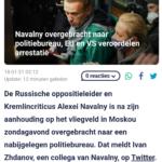 Navalny Overgebracht Naar Politiebureau, EU En VS Veroordelen Arrestatie