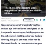 Twee Bewakers Beëdiging Biden Weggestuurd Om Banden Met Rechtse Milities