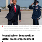 Republikeinen Senaat Willen Uitstel Proces Impeachment Trump