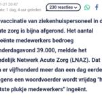 Vaccinatie Personeel In Acute Zorg Bijna Afgerond: Vrijdag De Laatste Prikken