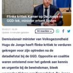 Flinke Kritiek Kamer Op De Jonge Na GGD-Lek, Minister Erkent Fouten
