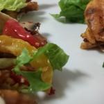 Wraps; Kip met Groenten onder de grill, Notenmix en zelfgemaakte Saus