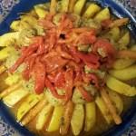 Marmita met Boqronisgehakt, Aardappelen, Knolselderij, Wortels en Rode Paprika