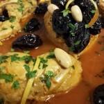 Marmita: Kip, boterzachte gekonfijte Pruimen, Amandelen en kleine stukjes Abrikoos
