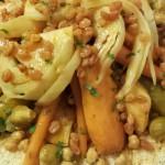 Sinterklaas; Couscous met Rundvlees, Pompoen, Witte Kool, Wortels, Spruiten, Zoete Aardappel, Knol, Courgette, Kikkererwten en gekonfijte Rozijnen