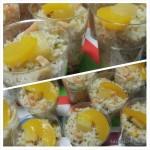 Salades met Ananas Perzik