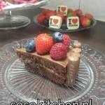 Chocoladetaart met vers Fruit Eindresultaat