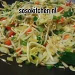 Nasi Chinese Groenten-Roerbakmix voorbereiding