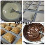 Room-Witte Cocolade Kussens voorbereiding